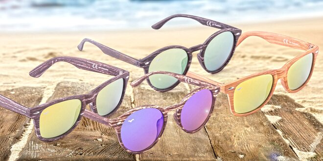4ccd3ffc3 Originálne slnečné okuliare Wayfarer a Nyasa s imitáciou dreva ...