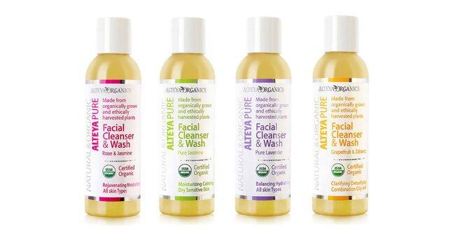 Bio čistiace gély na tvár značky Alteya Organics