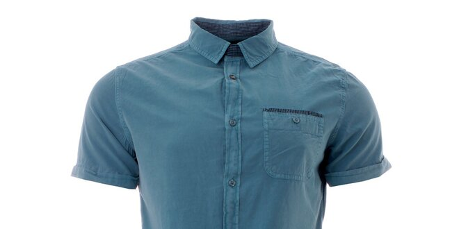 50603c092f660 Pánska azúrovo modrá košeľa Lee Cooper   Zlavomat.sk