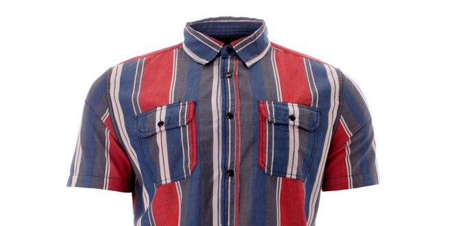 57ec113e301d9 Pánska farebná pruhovaná košeľa Lee Cooper   Zlavomat.sk