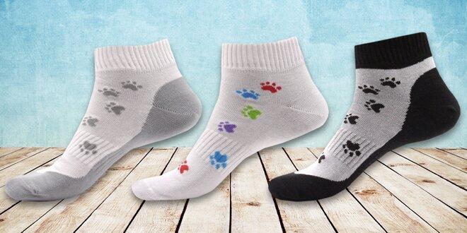 Ponožky s motívom psích labiek
