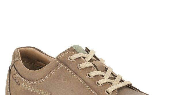e0587a20c852 Pánske hnedé kožené topánky Clarks