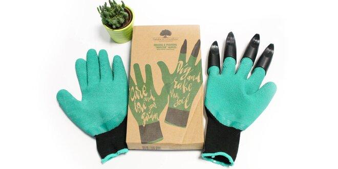 Záhradné rukavice so 4 pazúrmi