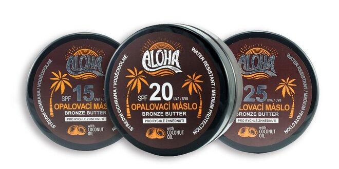 Opaľovacie maslo ALOHA s jemnou kokosovou vôňou