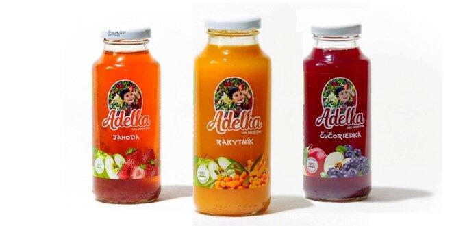 Rôzne druhy jablčnej šťavy Adelka (250 ml)