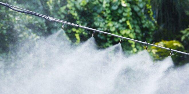 Chladiaci systém do záhrady na vodnú hmlu