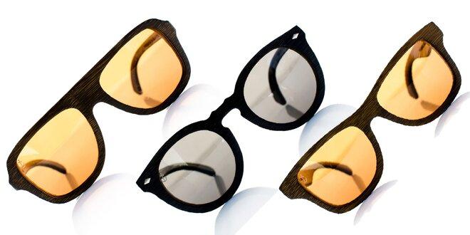 Štýlové slnečné okuliare z bambusového dreva