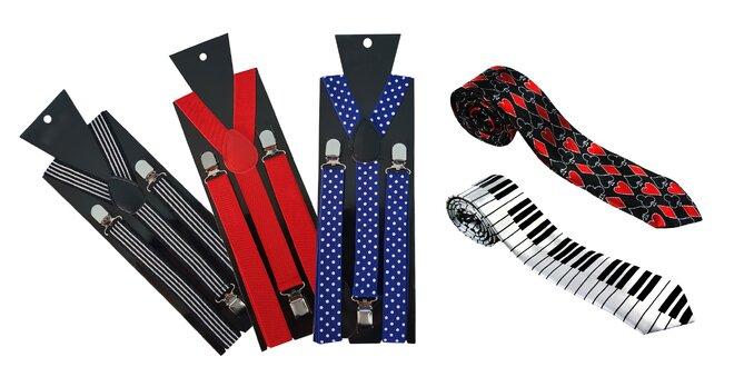 Štýlové vtipné pánske/dámske traky a kravaty!