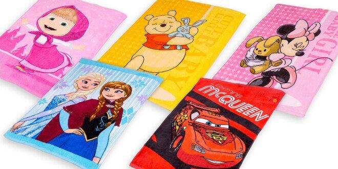 Detské froté uteráky s obľúbenými rozprávkovými postavičkami