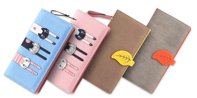 887d34d3bb Veselé dámske peňaženky v pastelových farbách