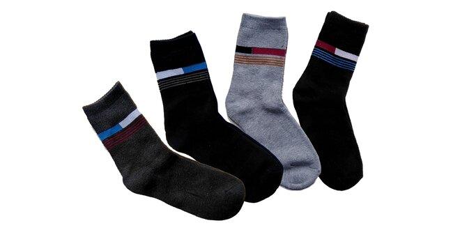 Termo bambusové ponožky: 6 párov