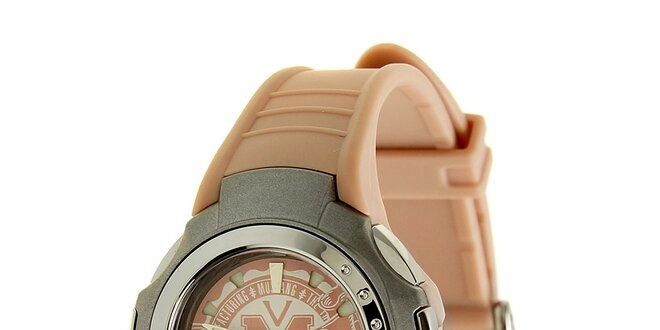 Dámske ružové hodinky Mustang so silikonovým remienkom  7ef922d0d5