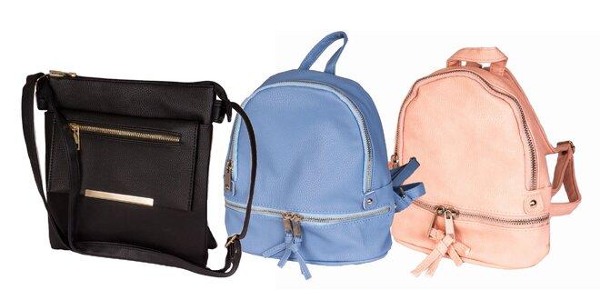 Dámske kabelky a batôžky z koženky v rôznych veľkostiach