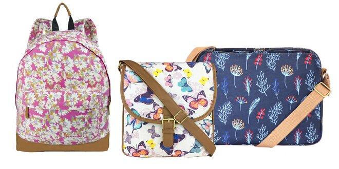 Dámske plátené tašky a batohy s veselou potlačou
