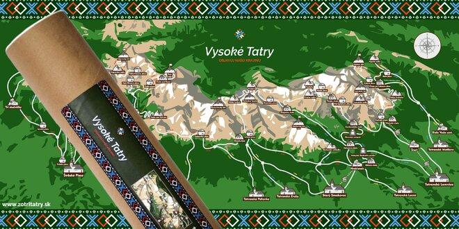 """Stieracia mapa Vysokých Tatier """"Zotri Tatry""""!"""