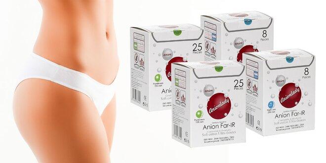 Hygienické antibakteriálne aniónové vložky