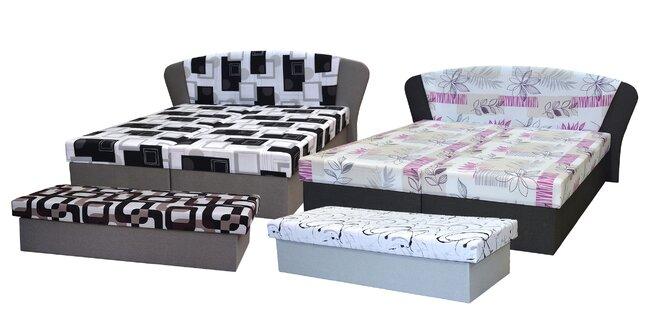 Celočalúnená váľanda alebo posteľ s úložným priestorom