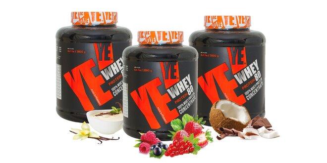 Proteín YE-Whey 80 / 2 kg v 4 rôznych príchutiach