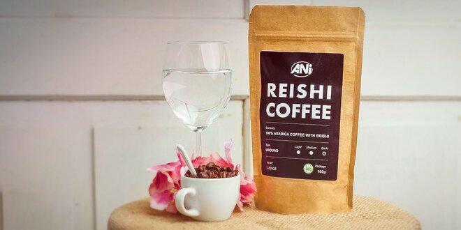 Zelená káva či arabika s hubou Reishi