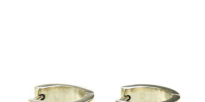 Dámske gulaté náušnice Swarovski Elements s čirými kryštálmi ... 1913bac066f