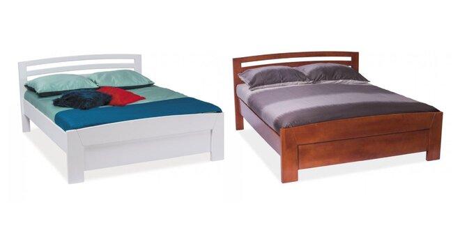 Masívna buková posteľ VIKTOR s roštom a ergonomickým matracom