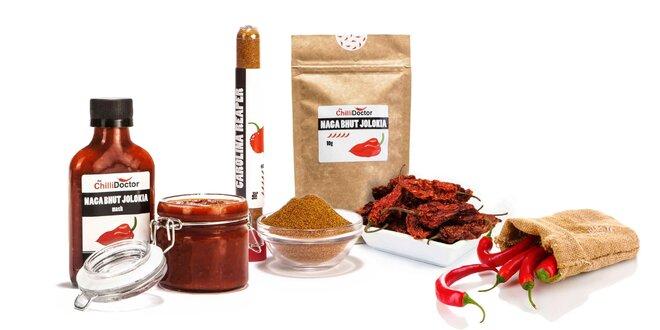 Extra pálivé chilli vo forme mashu, prášku alebo celej papričky