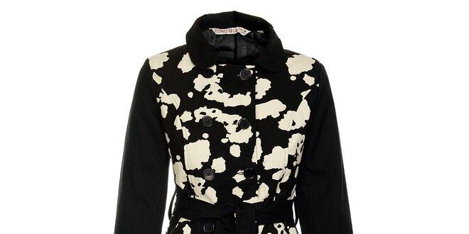 Dámsky jarný kabát od značky Savage Culture s pásikom  326ba6c82be
