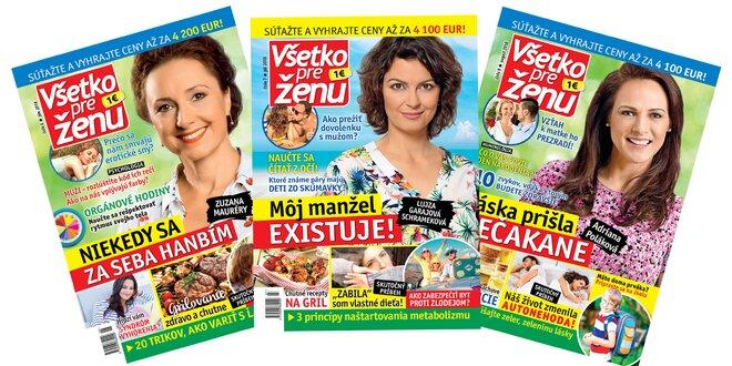Ročné predplatné časopisu Všetko pre ženu