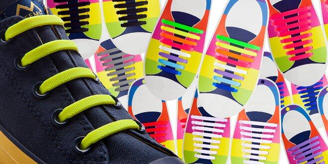 Ozdobte svoje topánky silikónovými šnúrkami, ktoré sa nešnúrujú
