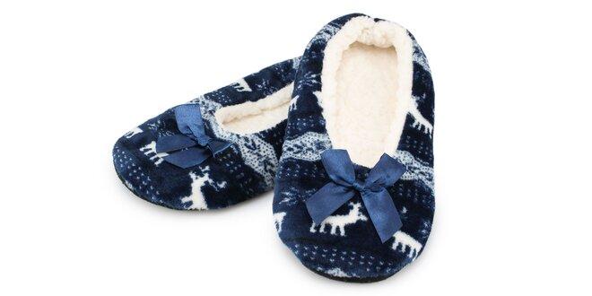 Dámske domáce balerínkové papuče