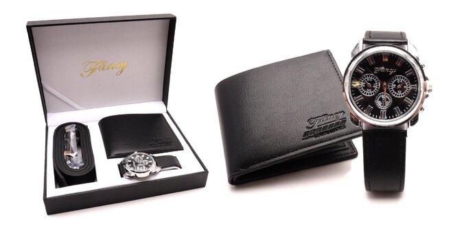 Darčekový set pre mužov: hodinky, opasok a peňaženka