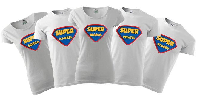 Skvelé bavlnené tričká pre celú rodinu