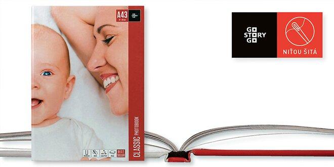 Fotokniha šitá niťou vo formáte A4 na výšku