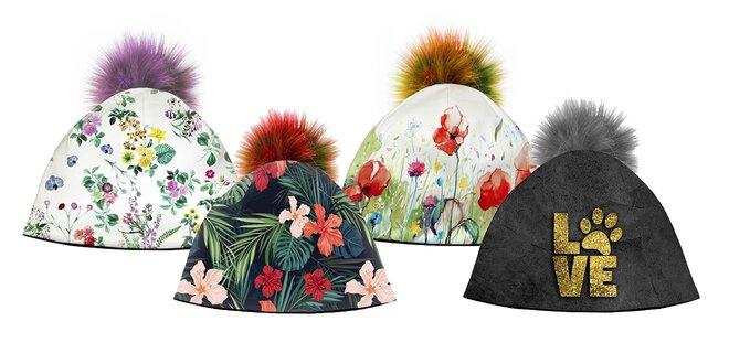 Rozkošné dámske zimné čiapky s brmbolcom