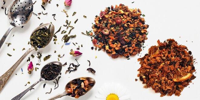 Sypané ovocné čaje rôznych príchutí