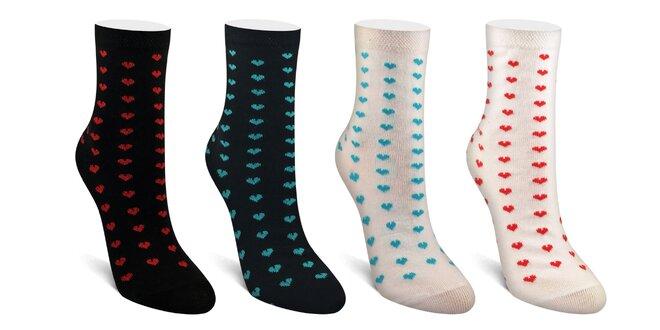 Srdiečkové ponožky Folkies vyrobené na Slovensku