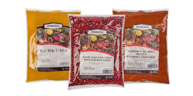Balíčky plné korenín a byliniek do vašej kuchyne