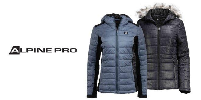 Dva druhy dámskych zimných búnd Alpine Pro