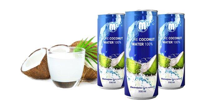 Zdravé osvieženie prírodnou kokosovou vodou