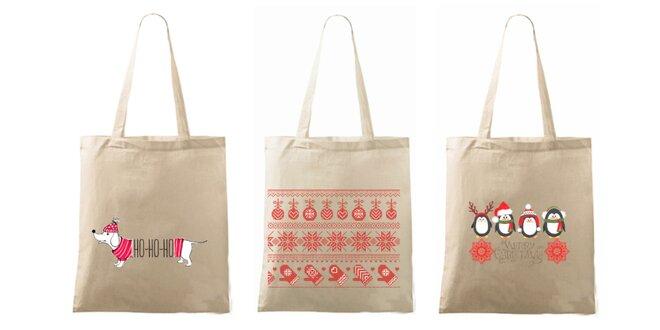 Vianočná taška s milou potlačou  f59f874c71c