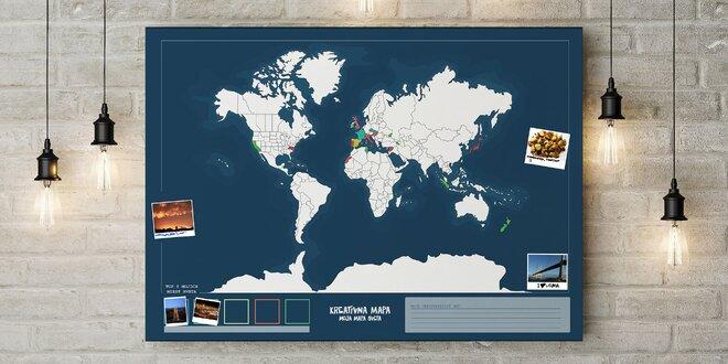 Kreatívna mapa sveta: TY si jej dizajnérom!