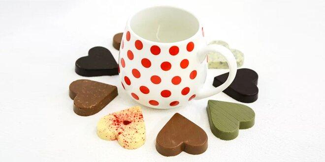 Bodkované hrnčeky s čokoládou