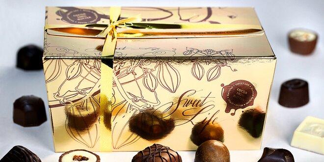 Lahodné belgické pralinky v darčekových krabičkách