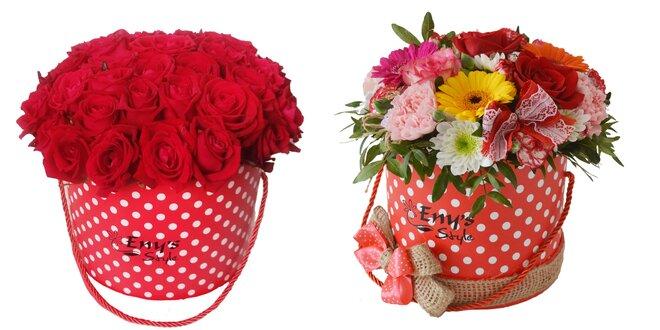 Kvetinové boxy - super darček na Valentína
