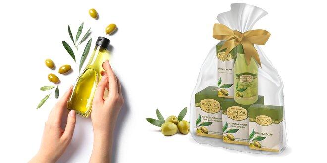 5-dielny Balíček kozmetiky s olivovým olejom