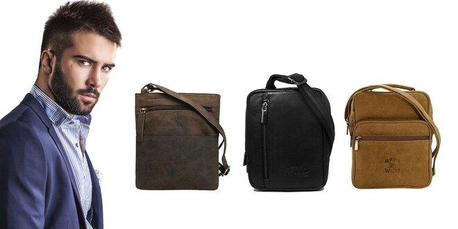 Pánske kožené tašky cez plece Always Wild