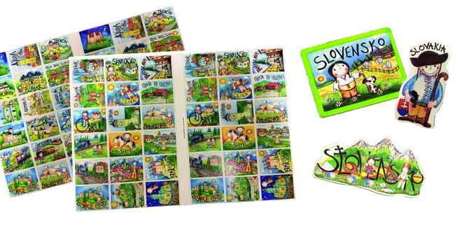 Slovenské magnetky a ručné maľované pexesá