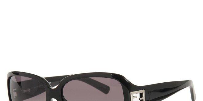 Dámske čierne slnečné okuliare s kovovým logom Fendi  7c0d97ba8ff