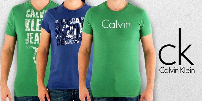 Pánske tričká Calvin Klein s krátkym rukávom