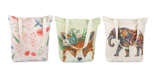 Dámska textilná taška s krásnym dizajnom